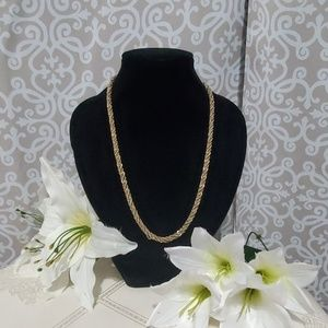 Silver & Gold Twistes Rope Chain Necklace